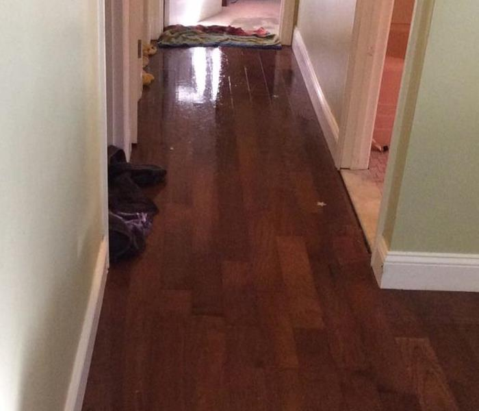 Pipe Bursts in Dining Room in Framingham Home Before