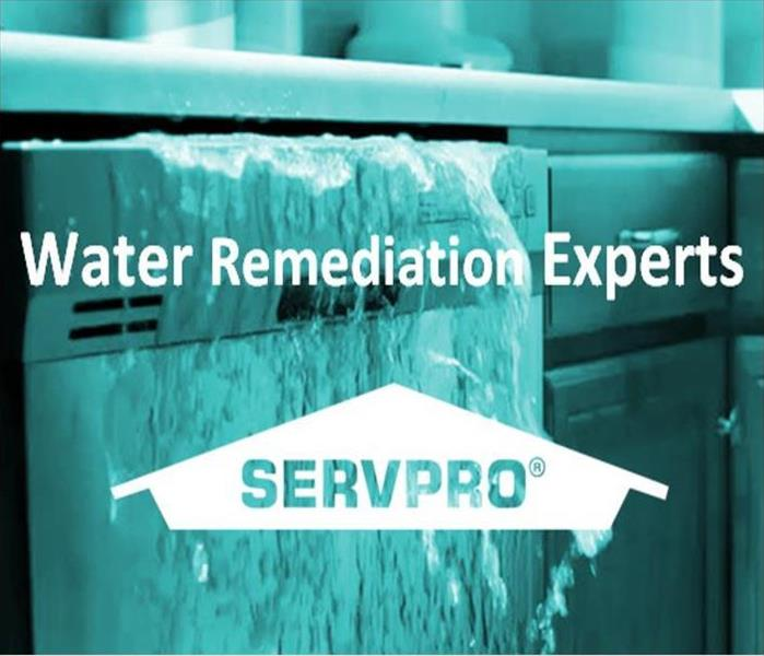 Image of flooding water with SERVPRO Logo and text, Water Remediation Experts