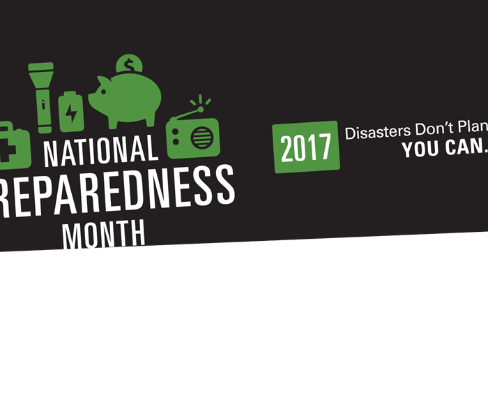 Storm Damage September is National Preparedness Month - SERVPRO of Framingham